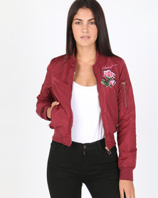 Soviet Brooklyn Bomber Jacket Red