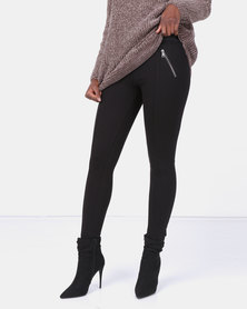 cath.nic By Queenspark Zip Detail Ponti Legging Charcoal
