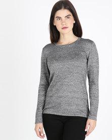 Queenspaek Ottoman Melange Core Knitwear Jersey Grey