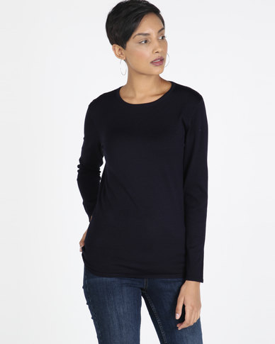 Queenspaek Crewneck Core Jersey Navy