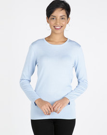 Queenspaek Crewneck Core Jersey Light Blue