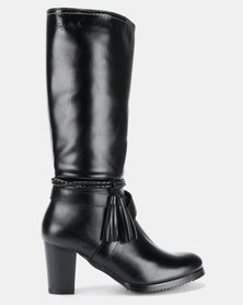 Soft Style Aideen Heeled Mid Calf Boots Black
