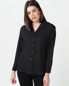 Tasha's Closet Spain Batwing Top Black