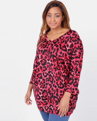 Utopia Plus Animal Cut n Sew Tunic Red