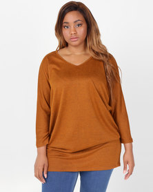 Utopia Plus Cut n Sew Tunic Tan