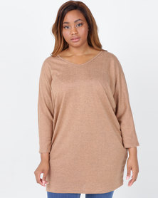 Utopia Plus Cut n Sew Tunic Beige
