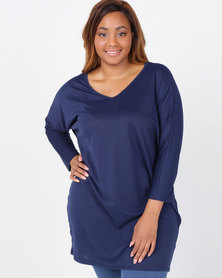 Utopia Plus Cut n Sew Tunic Navy
