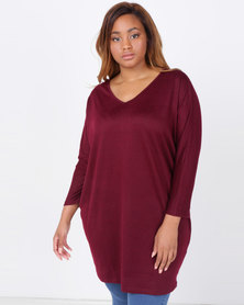 Utopia Plus Cut n Sew Tunic Ruby