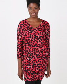 Utopia Animal Cut n Sew Tunic Red