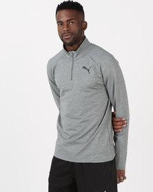 Puma Sportstyle Core Active Half Zip Grey