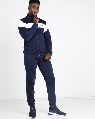 Puma Sportstyle Core Clean Tricot Suit CL Blue/White