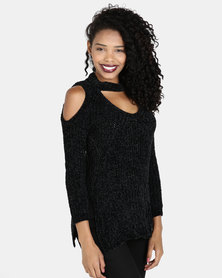 Crave Sleeveless Knit Top Black