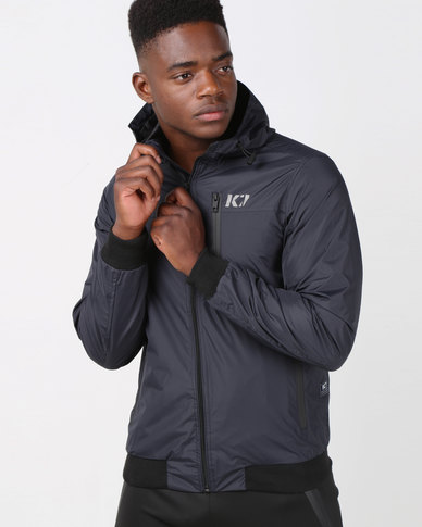 K Star 7 K7 Groove Nylon Hooded Jacket Navy