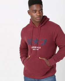 K Star 7 Ice Polar Fleece Pullover Hoodie Wine