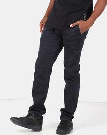 Klevas Canary Straight Leg Stretch Jeans Blue/Black