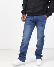 Klevas Canary Straight Leg Stretch Jeans Indigo