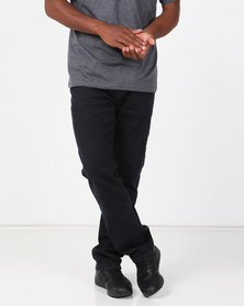 Klevas Dodger Straight Leg Stretch Jeans Blue/Black