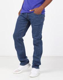 Klevas Dodger Straight Leg Stretch Jeans Indigo
