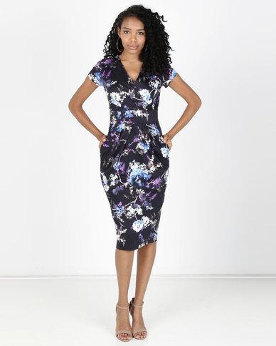 fbe25679f8 Closet London Floral Print Midi Dress Multi   Zando