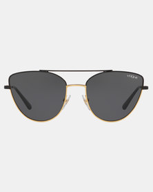 Vogue Cat Eye Sunglasses Black/Gold
