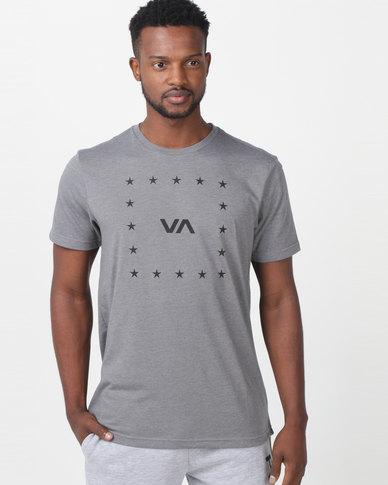 041a5958443f8b Complete the look. RVCA PERFORMANCE VA Corners Short Sleeve Tee Grey ...