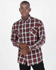 St Goliath Snowy Long Sleeve Shirt Red