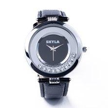 Skyla Jewels Black Diamante Ladies watch
