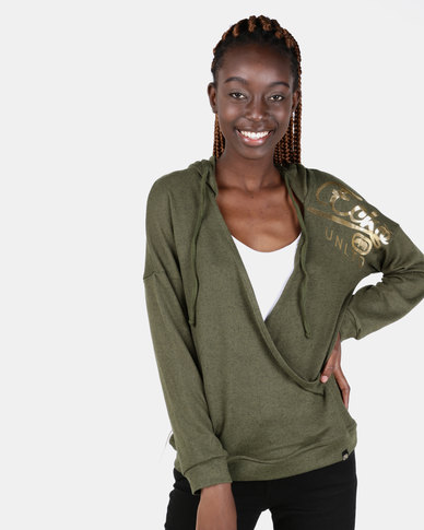 ECKÓ Unltd Criss Cross Hooded Top Green