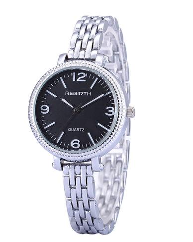 REBIRTH Classic Luxury Ladies Stainless Steel Quartz Watch