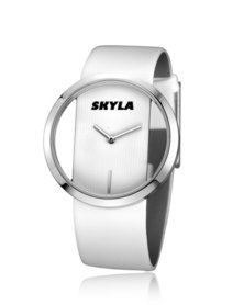 Skyla Jewels Hollow Round Face White Watch