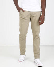 KG Narrow Stretch Chino Khaki Brown
