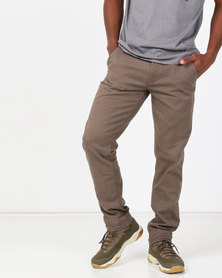 KG Narrow Stretch Chino Taupe
