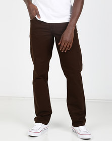 KG Classic 5 Pocket Bedford Trousers Choc