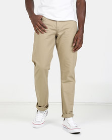 KG Classic 5 Pocket Bedford Trousers  Khaki Brown