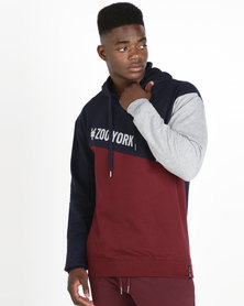 Zoo York Colourblock Pullover Hoodie Multi