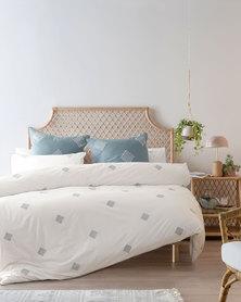 Linen House Willshaw Duvet Cover Set White