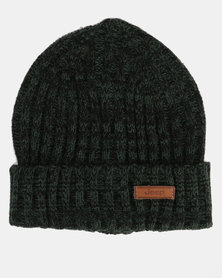 Jeep Knitted Chucky Knit Beanie Olive Melange