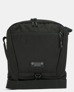 Jeep 6LTR Medium Polyester Travel Bag Black