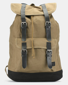 Jeep Canvas Togbag with Leather Trim Fatigue