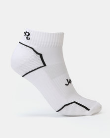 Jeep Mini Crew Socks White