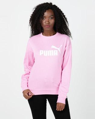 Puma Sportstyle Core Ess Logo Crew Sweatshirt Pink