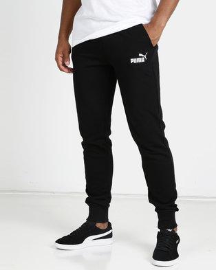 6d279e44dc36 Puma Sportstyle Core ESS+ Slim Pants TR Black