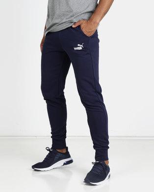 626ebfb613fd Puma Sportstyle Core ESS+ Slim Pants TR Blue