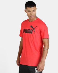 Puma Sportstyle Core ESS Logo Tee Red