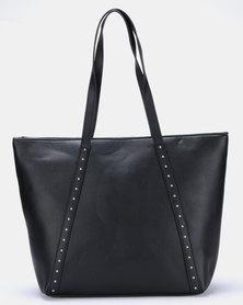 Blackcherry Bag Stud Detail Shopper Bag Black/Silver