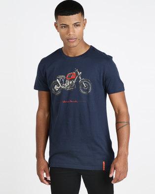 832ce48feeac VENTS BRULL Beamer Brat T-shirt Navy