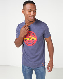 VENTS BRULL Pontiac Circle T-shirt Navy Melange