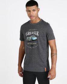 VENTS BRULL VB Greaser T-shirt Charcoal Mel