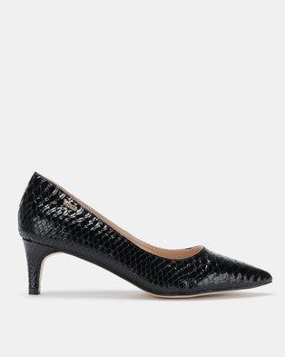 b27b1df5df6 PLUM Ona Pointy Kitten Heels Black