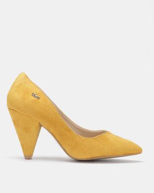 f42c612229e PLUM Genie Pointy Kitten Heels Mustard